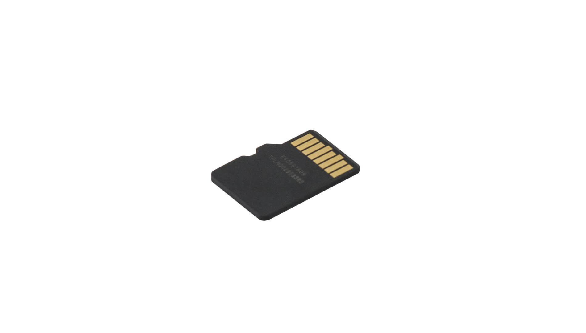 Pre-programmed SD card