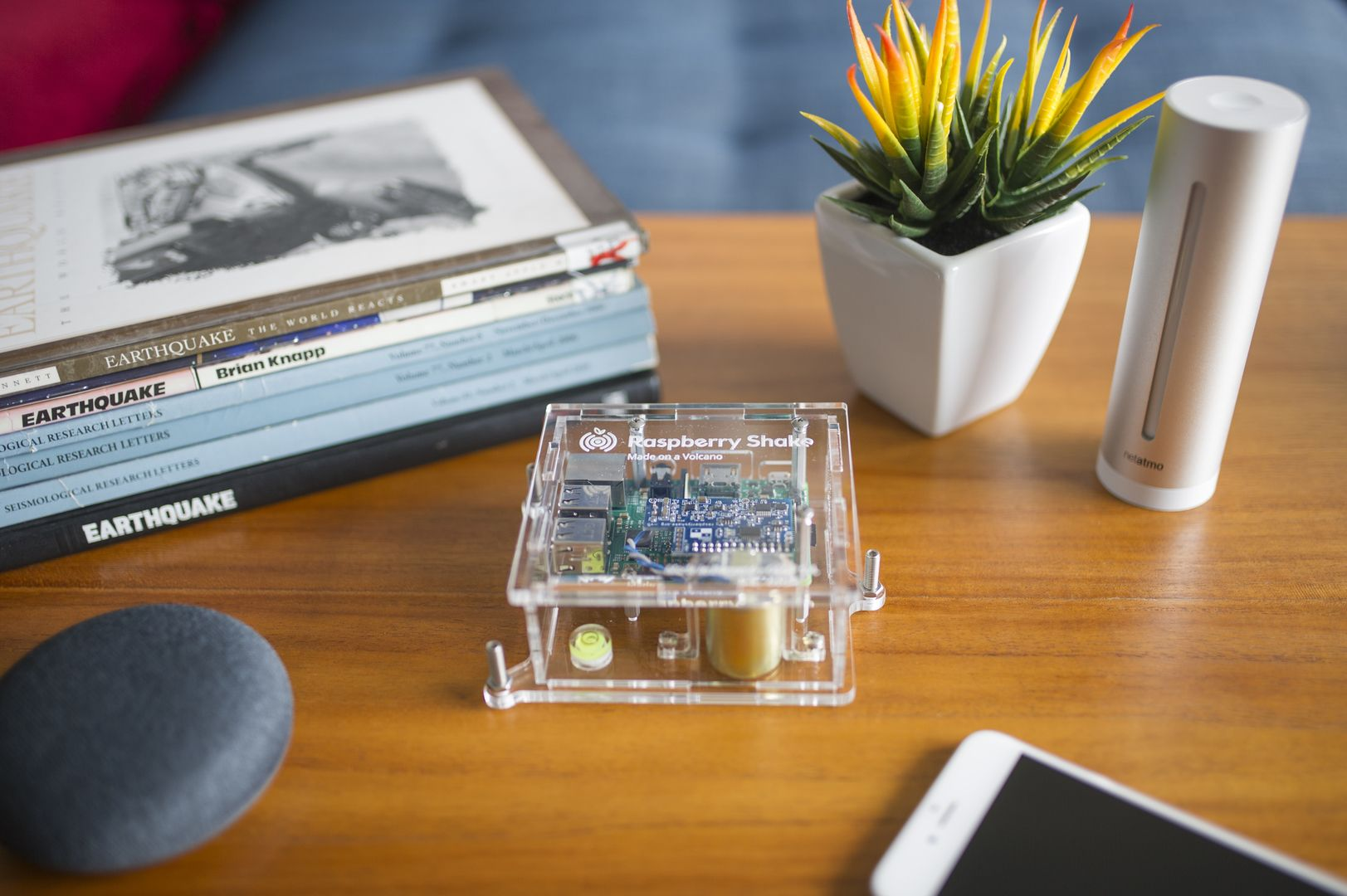 Turnkey IoT Home Earth Monitor RS 1D at Lounge Coffee Table