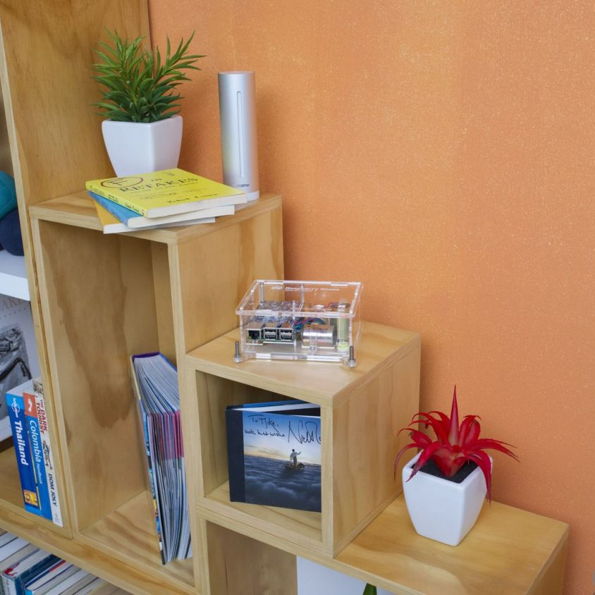 Turnkey IoT Home Earth Monitor RS 3D at Book Shelf