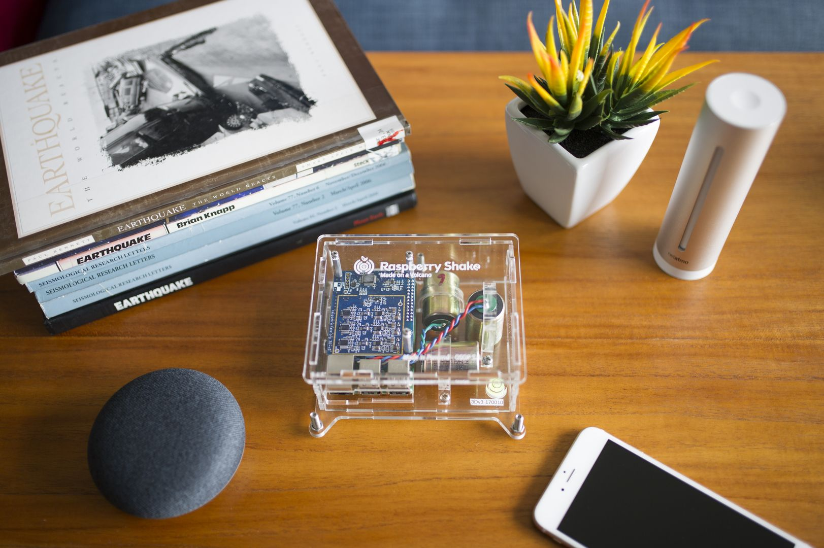 Turnkey IoT Home Earth Monitor RS 3D at Lounge Coffee Table